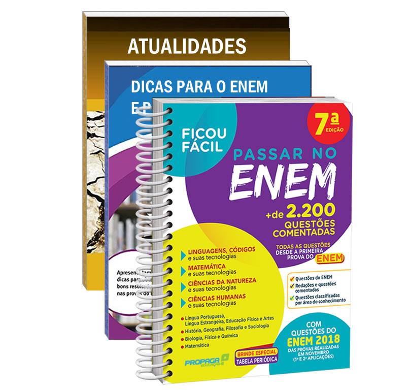 Kit Ficou Fácil Passar No ENEM 2020