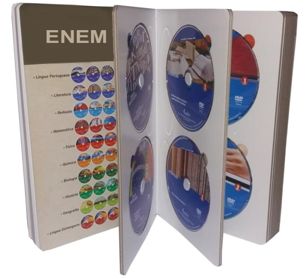 Box com 40 DVDs - Foto Real do material